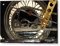 Custom Motorcycle Chopper . 7d13317 Acrylic Print by Wingsdomain Art and Photography