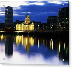 Customs House And Liberty Hall, River Acrylic Print by The Irish Image Collection