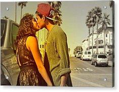Cute Couple Acrylic Print by Robert Juarez