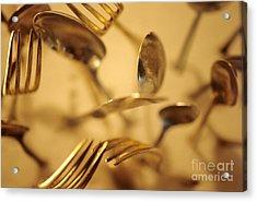 Cutlery Vortex Acrylic Print by Bruce Stanfield