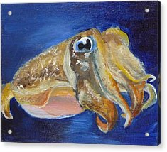Acrylic Print featuring the painting Cuttle Fish by Jessmyne Stephenson