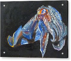 Acrylic Print featuring the painting Cuttlefish II by Jessmyne Stephenson