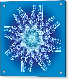 Cyanide Snowflake Acrylic Print by Val Black Russian Tourchin