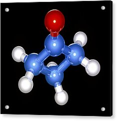Cyclobutanone Molecule Acrylic Print by Laguna Design