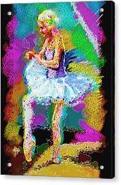 Cynthia Ballet Self Portrait Acrylic Print by Cynthia Sorensen