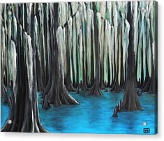 Cypress Spring Acrylic Print by Holly Donohoe