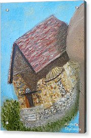 Cyprus Asinou Church Acrylic Print by Augusta Stylianou