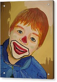 D Clown Acrylic Print