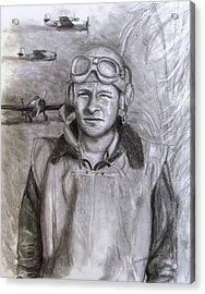 Dad Ww2 Acrylic Print by Jack Skinner