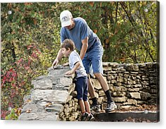 Acrylic Print featuring the photograph Daddy And Son by Darleen Stry