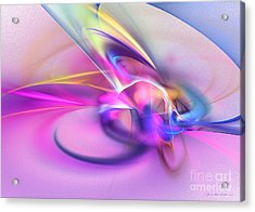 Daddys Girl - Abstract Art Acrylic Print by Abstract art prints by Sipo