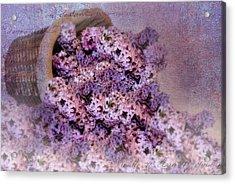 Daddy's Lilacs Series II Acrylic Print by Kathy Jennings
