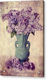 Daddy's Lilacs Series Vi Acrylic Print by Kathy Jennings