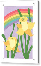 Daffodils And Rainbows II Acrylic Print by Terry Taylor