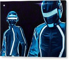 Daft Punk Acrylic Print by Ellen Patton
