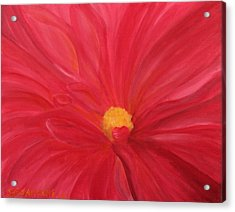Acrylic Print featuring the painting Dahlia Macro by Janet Greer Sammons