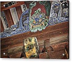 Daigoji Temple Gate Gargoyle - Kyoto Japan Acrylic Print by Daniel Hagerman
