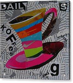 Daily Koffee Acrylic Print by Lynn Chatman