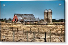 Dairy Barn Acrylic Print by Michael Thomas