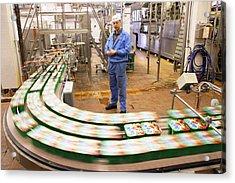 Dairy Factory Production Line Acrylic Print by Ria Novosti