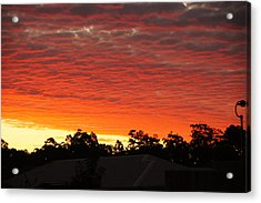 Dakabin Red Acrylic Print by Peter Lombard