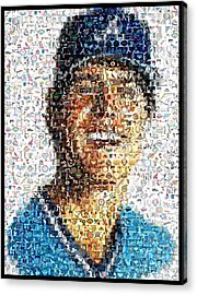 Dale Murphy Mosaic Acrylic Print by Paul Van Scott