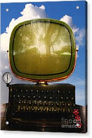 Dali.s Surreal Steampunk Personal Computer With Upgrades Acrylic Print by Wingsdomain Art and Photography