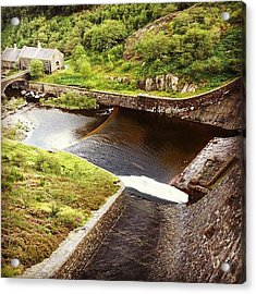 Dam At Elan Valley. #valley #dam Acrylic Print