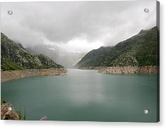 Dam Reservoir Acrylic Print by Michael Szoenyi