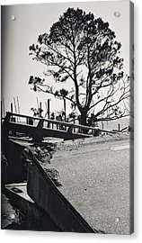 Damaged Bridge Acrylic Print by Floyd Smith