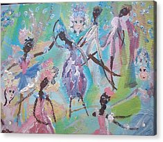 Dame Harmony Pantomime Acrylic Print by Judith Desrosiers
