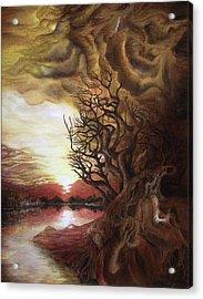 Dan Scurtu - Sunset Acrylic Print by Dan Scurtu