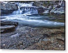 Dana Fork Cascades Acrylic Print by A A