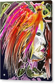 Dana Acrylic Print by Myrtle WILSON