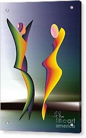 Acrylic Print featuring the digital art Dance 1 by Leo Symon
