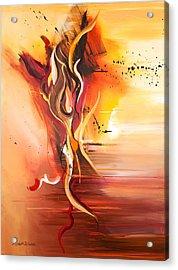 Dance Of Passion Acrylic Print by Michelle Wiarda-Constantine