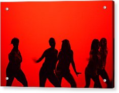 Dance Silhouette Group Acrylic Print