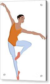 Dancer Acrylic Print by Melissa Stinson-Borg