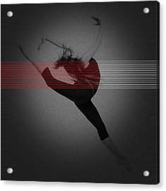 Dancer Acrylic Print by Naxart Studio