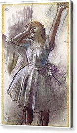 Dancer Stretching Acrylic Print by Edgar Degas