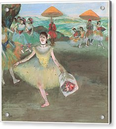 Dancer With A Bouquet Bowing Acrylic Print by Edgar Degas