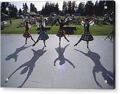 Dancers At A Gaelic Mod Held At Gaelic Acrylic Print