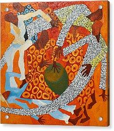 Dancers IIi Acrylic Print by Anina von Wachtel Diani Beach Art Gallery
