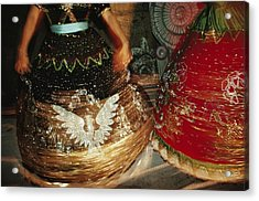 Dancers Whirl In Sequined Dresses Acrylic Print by Sisse Brimberg