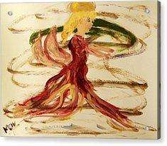 Dancing Angel Acrylic Print by Mary Carol Williams