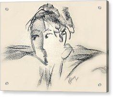 Dancing Face Acrylic Print by Karen A Robinson