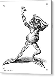 Dancing Frog, Conceptual Artwork Acrylic Print by Bill Sanderson