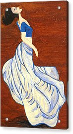 Dancing Girl -acrylic Painting Acrylic Print by Rejeena Niaz