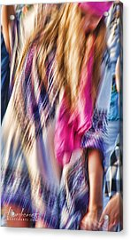 Dancing Hippie Acrylic Print