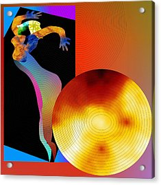 Acrylic Print featuring the digital art Dancing In Circle by Asok Mukhopadhyay